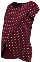 New Look Maternity KIERA SPOT WRAP Shirt dark burgundy