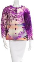 Mary Katrantzou Printed Silk-Blend Jacket