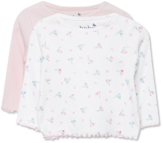 M&Co Long Sleeve Ribbed Top Two Pack (0-18mths)