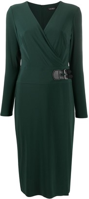 Lauren Ralph Lauren Side Buckled Wrap Dress