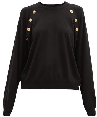 Versace Medusa-button Wool Sweater - Black