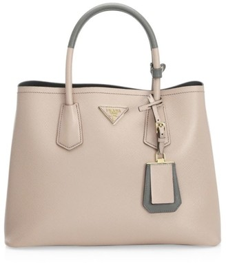 Prada Large Double Leather Tote