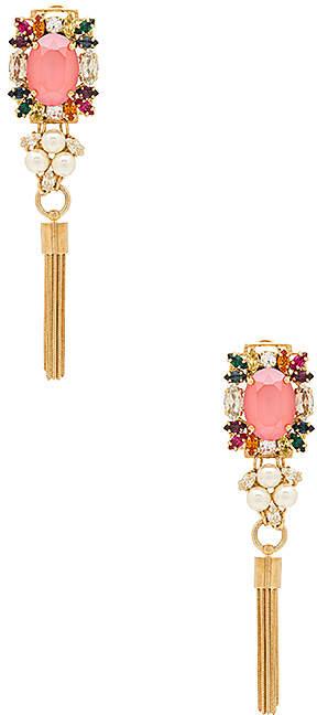 Anton Heunis Crystal Cluster With Tassel Earrings