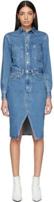 Rag & Bone Blue Denim All-In-One Dress
