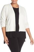 Eileen Fisher Textured Silk Blend Crop Jacket (Plus Size)
