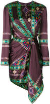 Etro gathered detail printed dress