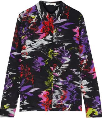 Alice + Olivia Willa Printed Silk-chiffon Shirt