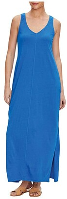Michael Stars Trina Cotton Modal V-Neck Maxi Dress (Varsity) Women's Dress