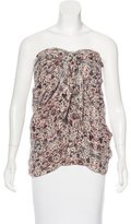 Etoile Isabel Marant Silk Strapless Top
