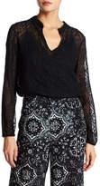 Nanette Lepore Sage & Spirit Embroidered Silk Blouse