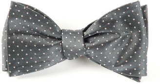 Tie Bar Mini Dots Charcoal Bow Tie