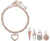 GUESS Metal Choker Trio with 5 Interchangeable Charms Necklace
