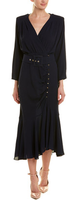 Michael Kors Collection Silk Midi Dress