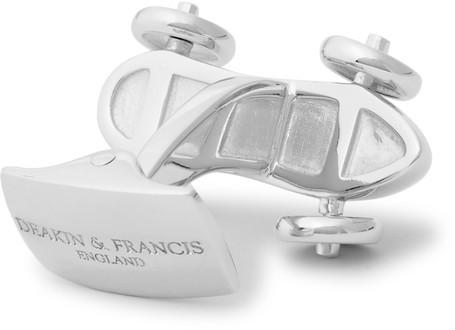 Deakin & Francis Car Rhodium-Plated Cufflinks