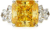 FANTASIA Square-Cut Canary CZ Ring