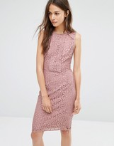Warehouse Lace And Ruffle Dress