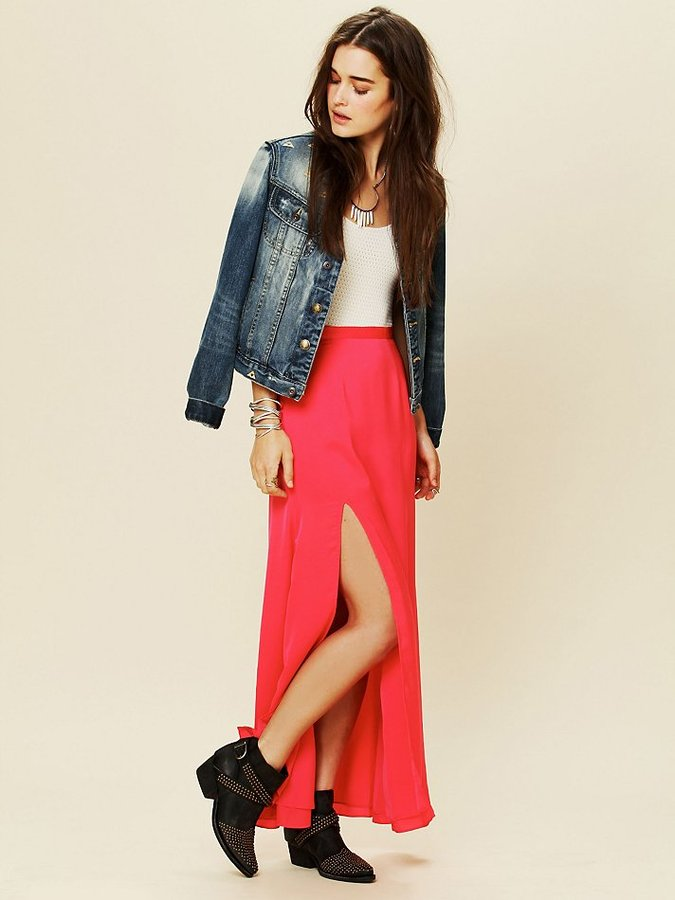 Free People Lovers & Friends Love Stoned Maxi Skirt