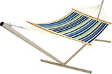 One Kings Lane Beaches Stripe Quilted Hammock, Large