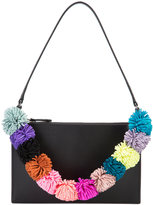 Loeffler Randall pompom strap shoulder bag - women - Nappa Leather - One Size