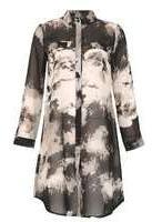 Dorothy Perkins Womens *Izabel London Multi Coloured Shirt Dress- Black