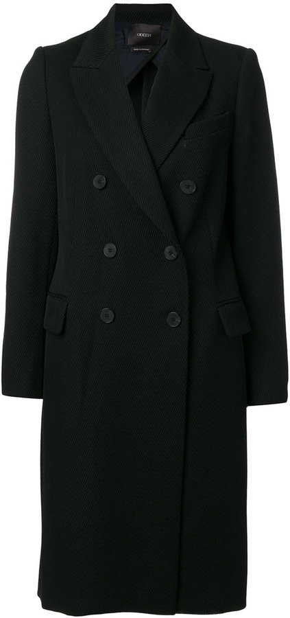 Odeeh classic double-breasted coat