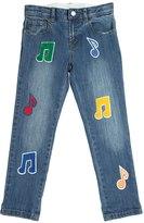 Stella McCartney Stretch Denim Jeans W/ Patches