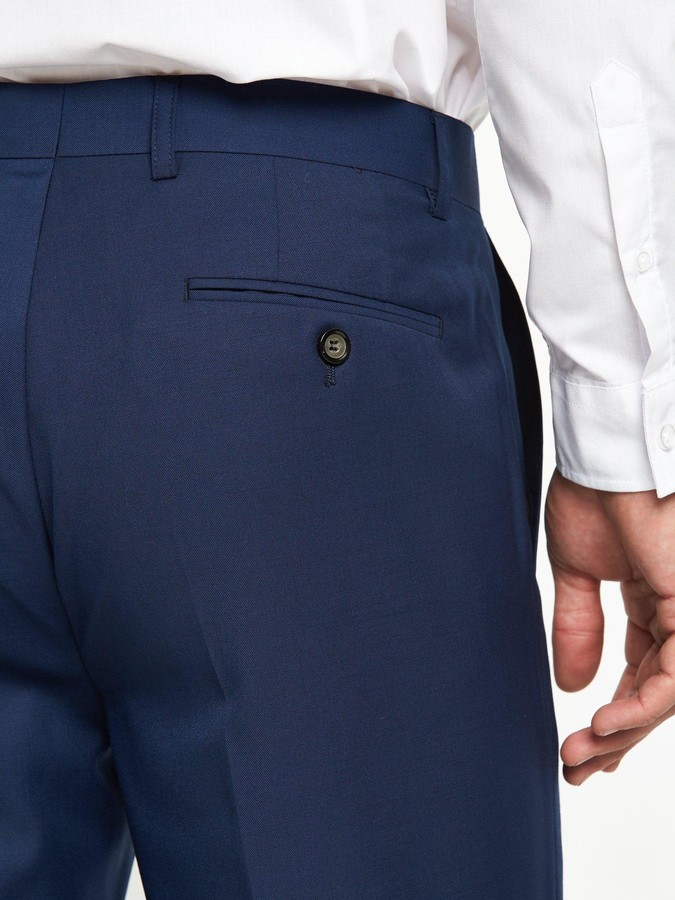 Thumbnail for your product : Skopes JossTapered Slim Fit Flat Front Trouser -Royal Blue