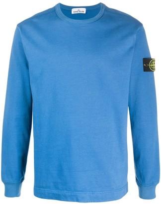 Stone Island Crew Neck Cotton Sweatshirt