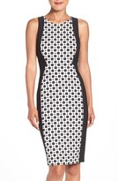 Adrianna Papell Women's Dot Jacquard Sheath Dress