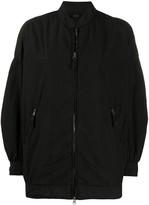 Aspesi zip-through long line bomber jacket