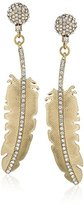 Betsey Johnson Angels & Wings Large Feather Drop Earrings