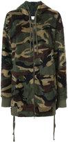 Faith Connexion camouflage fleece hoodie