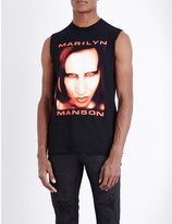 Justin Bieber Purpose Tour Marilyn Manson cotton tank top