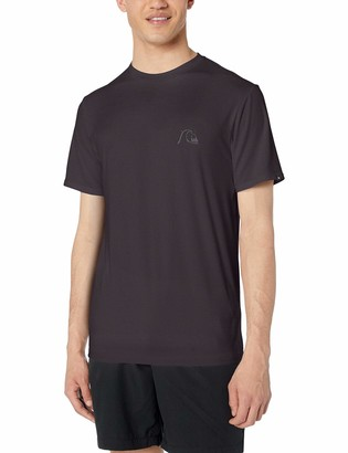 Quiksilver Men's Bubble Logo Short Sleeve Rashguard UPF 50+ Sun Protection