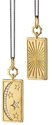Monica Rich Kosann Sun, Moon and Stars Medallion Necklace