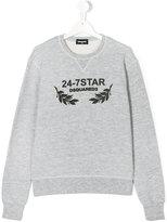 DSQUARED2 24-7 Star print sweatshirt - kids - Cotton/Viscose - 14 yrs