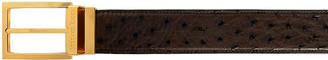 Stefano Ricci Men's Ostrich Leather Belt