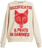 Gucci Wolf head-print cotton-jersey sweatshirt