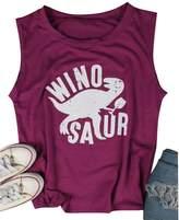 Huiyuzhi Womens Wino Saur Tank Top Funny Drinking Shirt Tank Tops (XXL, )