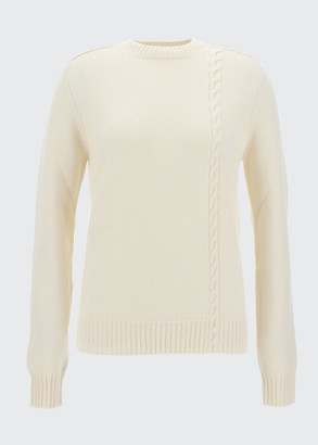 Loro Piana Baby Cashmere Asymmetric Cable-Knit Sweater