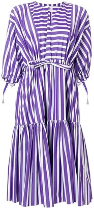 Maison Rabih Kayrouz Striped Flared Dress