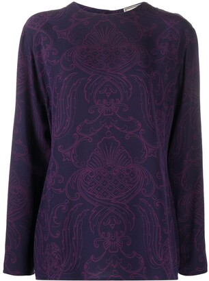 Versace Pre-Owned baroque print long-sleeved T-shirt