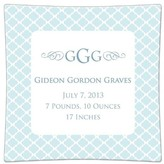 The Well Appointed House Chelsea Light Blue Personalized Birth Announcement Decoupage Plate-Available in a Variety of Sizes