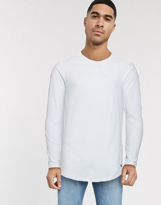 Jack and Jones long sleeve top with curved hem