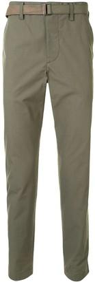Sacai High-Waisted Slim Fit Chino Trousers