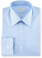 Charvet Micro Gingham Cotton Dress Shirt, Blue/White