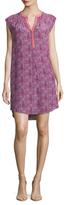 Rebecca Taylor Silk Printed High Low Shift Dress