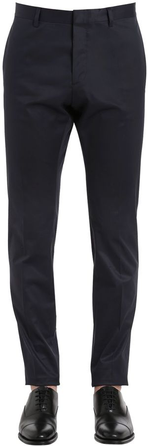 DSQUARED2 16.5cm Skinny Light Stretch Satin Pants