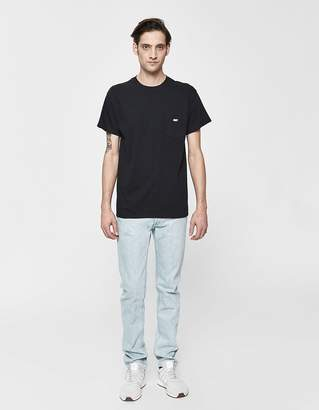 Obey S/S Jumbled Pocket Tee in Black
