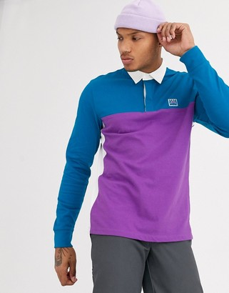 Vans Hi-Point Colorblock rugby long-sleeved polo in black